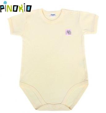 Body kr.rukáv PINOKIO - žlutá/krémová, Velikost: 98 (24-36m)