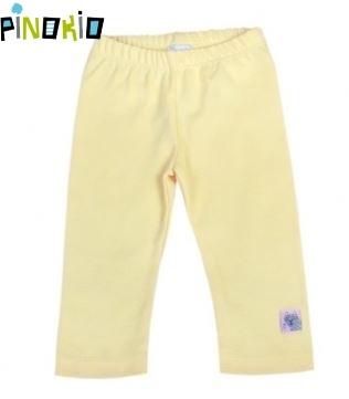 Legínky/tepláčky PINOKIO - žlutá/krémová