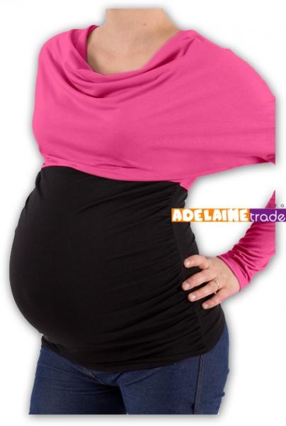 Be MaaMaa Těhotenská tunika VODA DUO - růžovo-černý