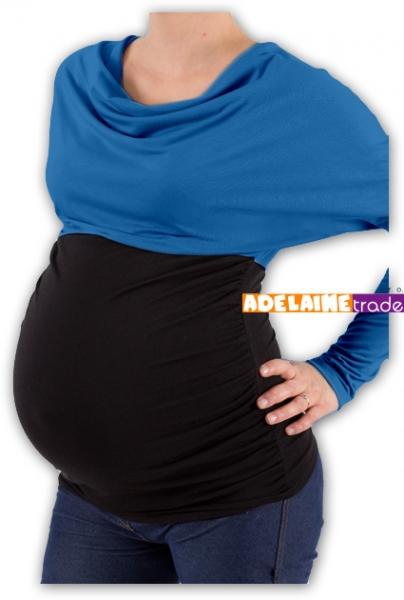 Be MaaMaa Těhotenská tunika VODA DUO - tm.modrý-černý