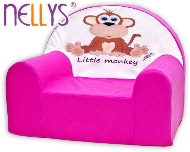 Dětské křeslo Nellys - Opička Nellys růžová