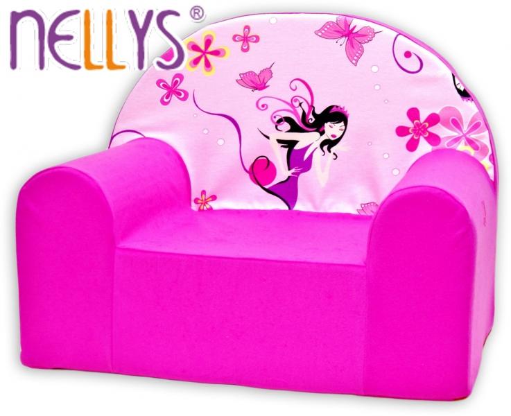 Dětské křesílko/pohovečka Nellys ® - Malá čarodějka