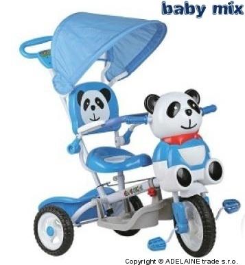 Tříkolka Baby Mix - Panda modrá
