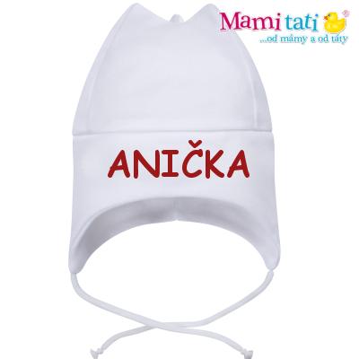 Baby Dejna Čepička s jménem na zavazování - bílá