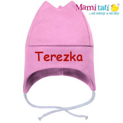Baby Dejna Čepička s jménem na zavazování - růžová
