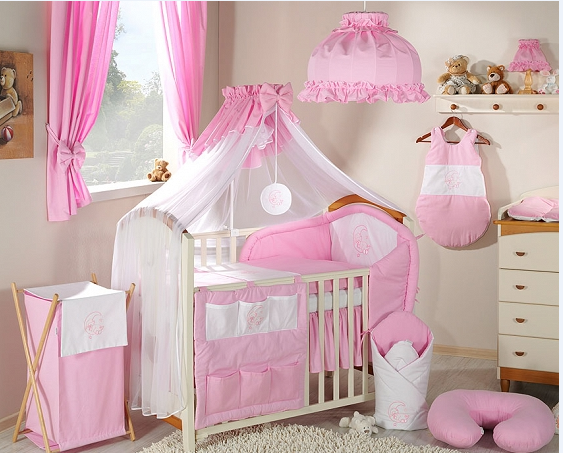 Luxusní mega set s moskytierou - Měsíček růžový