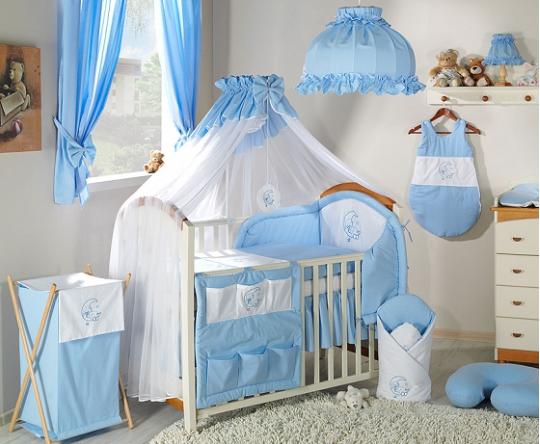 Mamo Tato Luxusní mega set s moskytierou - Měsíček modrý