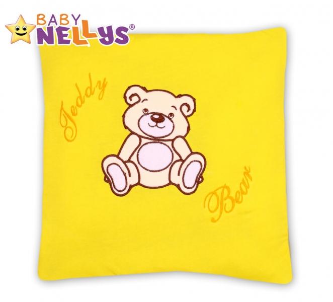 Baby Nellys Polštářek 40x40 Teddy Bear - žlutý