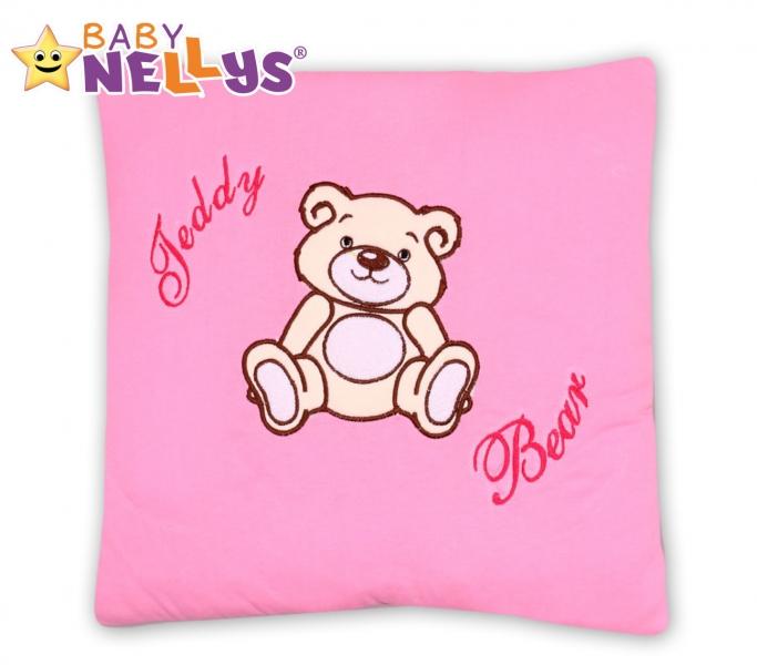 Polštářek 40x40 Teddy Bear - sv. růžový