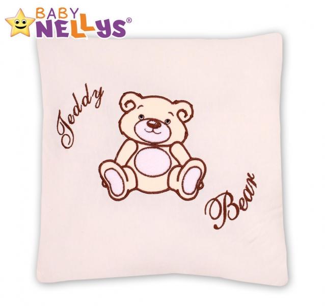 Baby Nellys Polštářek 40x40 Teddy Bear - smetanový