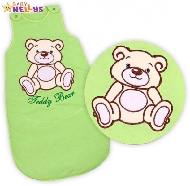 Spací vak Teddy Bear Baby Nellys - sv. zelený vel. 1