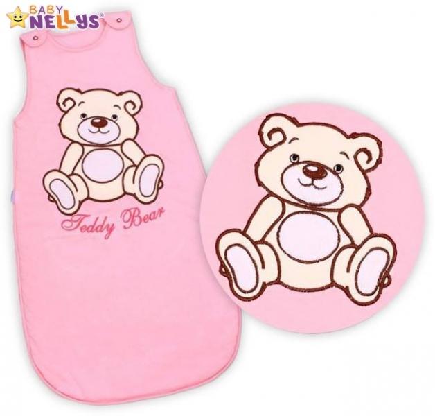 Spací vak Teddy Bear Baby Nellys - sv. růžový vel. 0+
