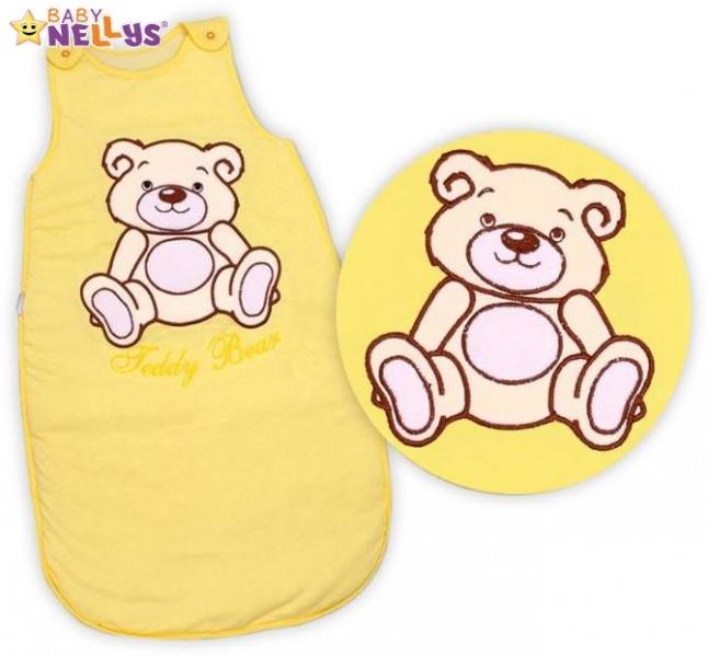 Spací vak Teddy Bear, Baby Nellys - žlutý, krémový vel. 1