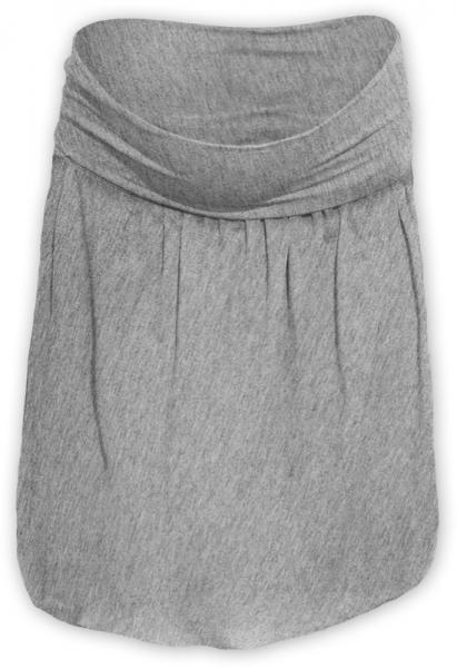 Balónová sukně - šedý melír