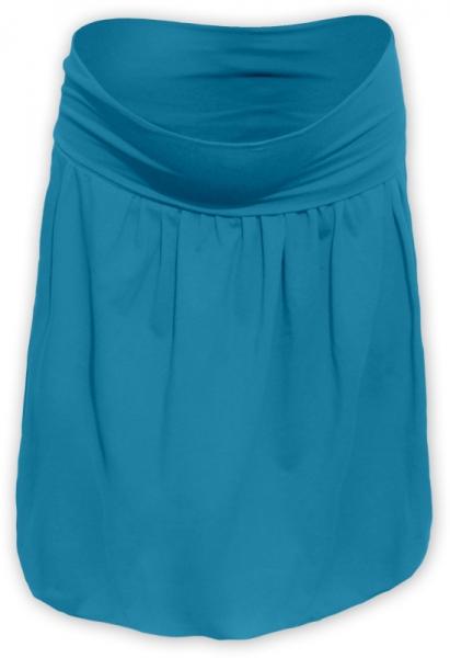 Balónová sukně - tm. tyrkys