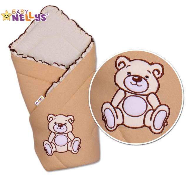 Baby Nellys Zavinovačka Teddy Bear - jersey - hnědá