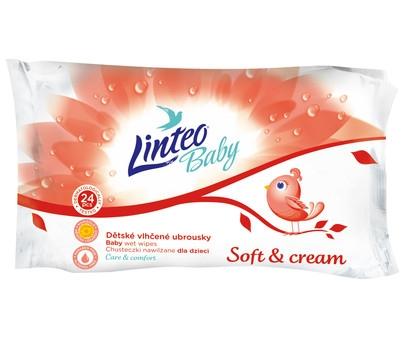 Vlhčené ubrousky LINTEO BABY Soft&cream, 24ks v balení