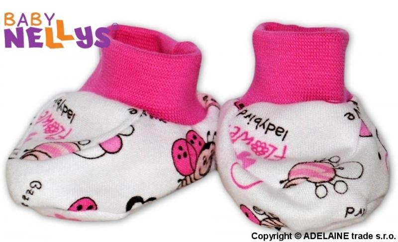 Botičky/ponožtičky Baby Nellys ® - Beruška, Velikost: 56 (1-2m)