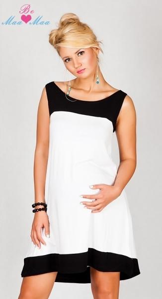Be MaaMaa Těhotenské šaty HALINA - bílé, uni