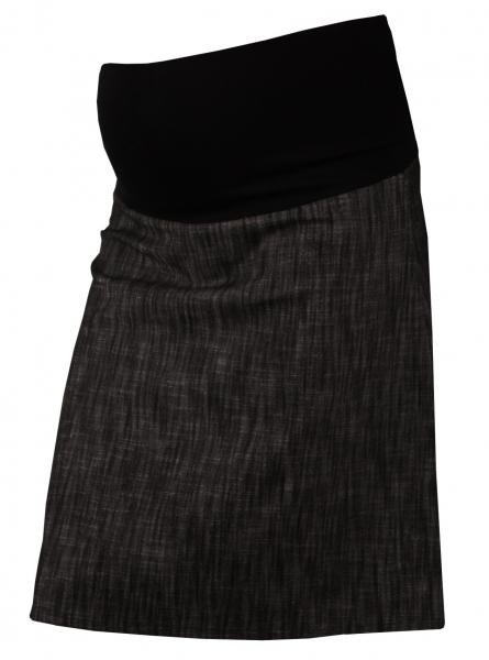 Gregx Elegantní těhotenská sukně DENIM - černá