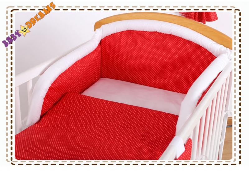 Bavlněné povlečení Baby Dreams Bubble retro - červené jemné tečky