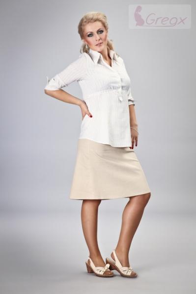 Elegantní těhotenská sukně DENIM - béžová