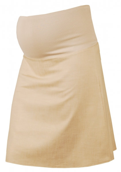 Gregx Elegantní těhotenská sukně DENIM - béžová