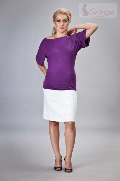 Elegantní těhotenská sukně DENIM - bílá