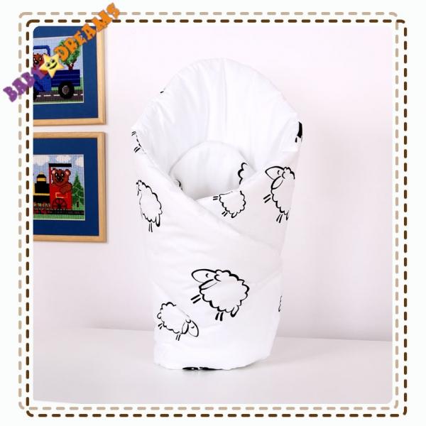 Zavinovačka - Spící ovečky bílé (vzor: Ovečky bílé)