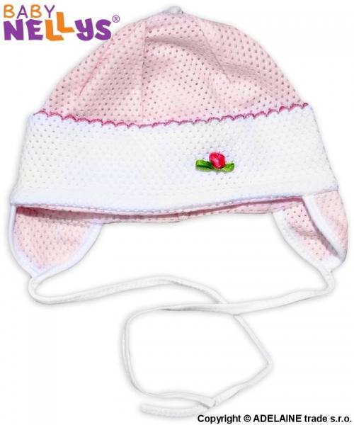 Čepička letní Baby Nellys® - růžová, Velikost: 74 (6-9m)