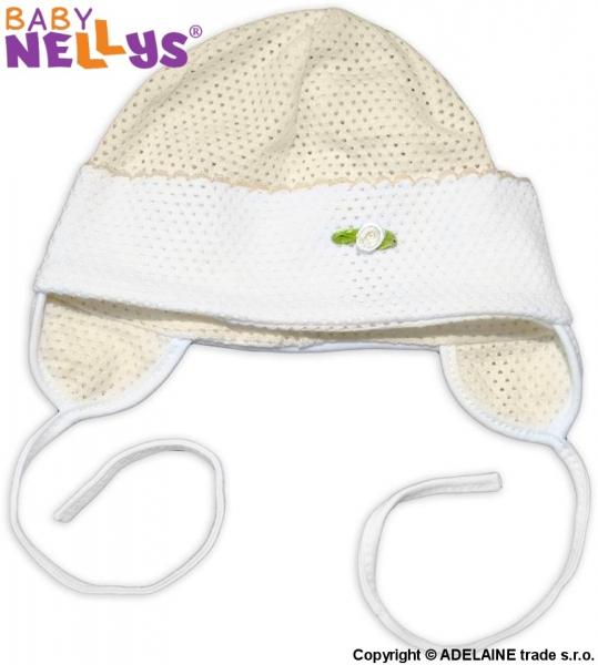 Čepička letní Baby Nellys® - krémová, Velikost: 62 (2-3m)
