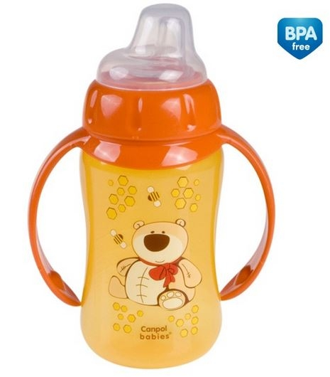 Tréningová hrneček/lahvička s úchyty 320ml - oranž s úchyty
