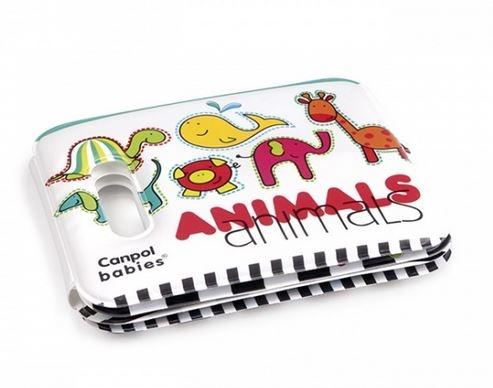 Měkká knížka pískací Canpol Babies - Veselé zvířátka