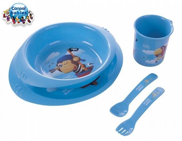 Sada nádobí Canpol Babies, Piráti - modrá