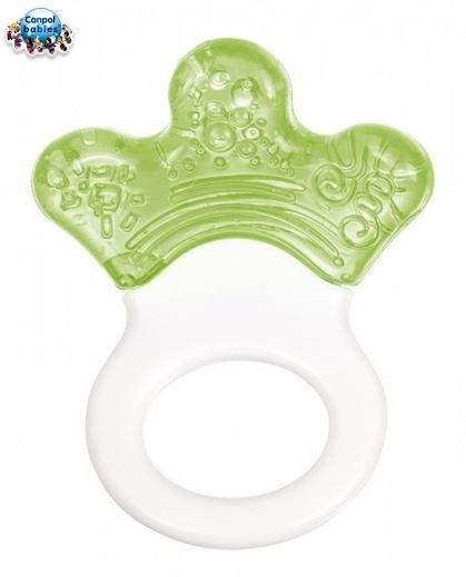Kousátko s chrastítkem - LAPKA - zelené