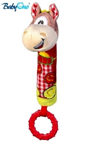Edukační hračka Baby Ono - pískací s kousátkem  - KONÍČEK
