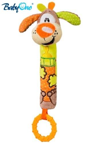 BabyOno Edukační hračka pískací s kousátkem  - PEJSEK