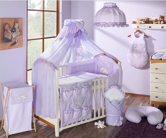 Luxusní mega set s moskytiérou - Snílek lila