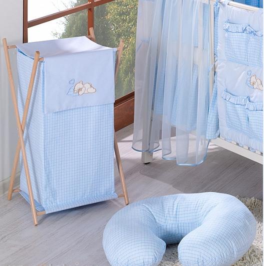 Luxusní praktický koš na prádlo - SNÍLEK modrý