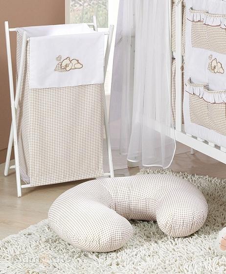 Luxusní praktický koš na prádlo - SNÍLEK hnědý