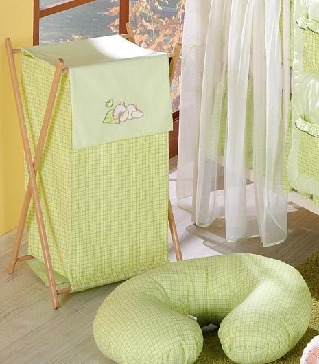 Luxusní praktický koš na prádlo - SNÍLEK zelený