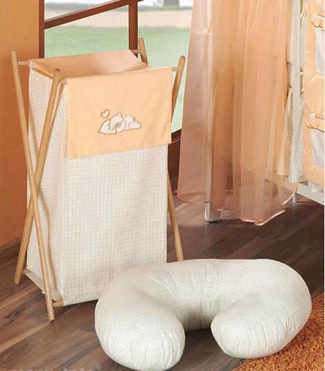 Luxusní praktický koš na prádlo - SNÍLEK oranžový