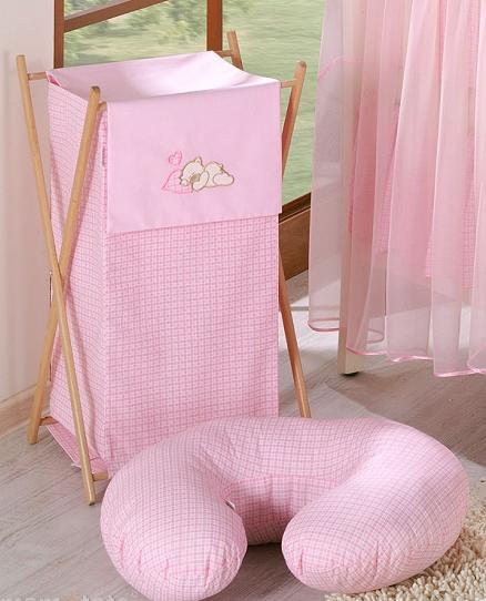 Luxusní praktický koš na prádlo - SNÍLEK růžový