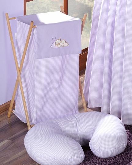 Luxusní praktický koš na prádlo - SNÍLEK fialový