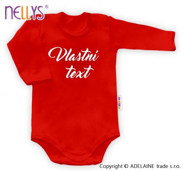 Baby Dejna Body s vlastním textem - červené, 62-92