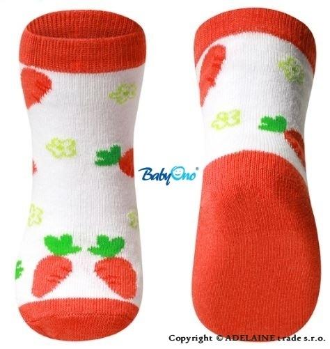 Bavlněné ponožky Baby Ono 12m+ - mrkvičky