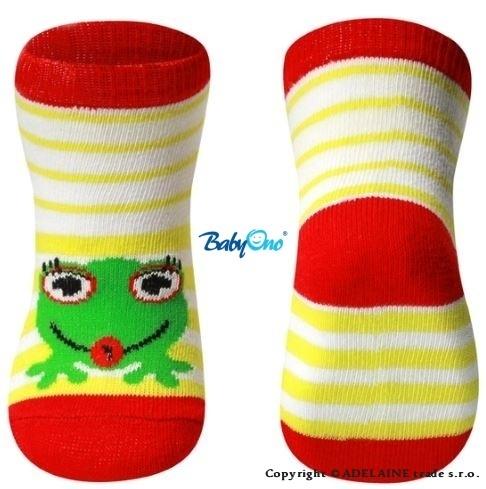 Bavlněné ponožky Baby Ono 6m+ - Žabka