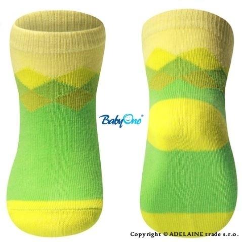 Bavlněné ponožky Baby Ono 6m+ - Zeleno-žluté
