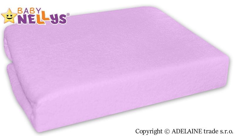 Baby Nellys Nepromokavé prostěradlo 120x60cm - lila, fialové