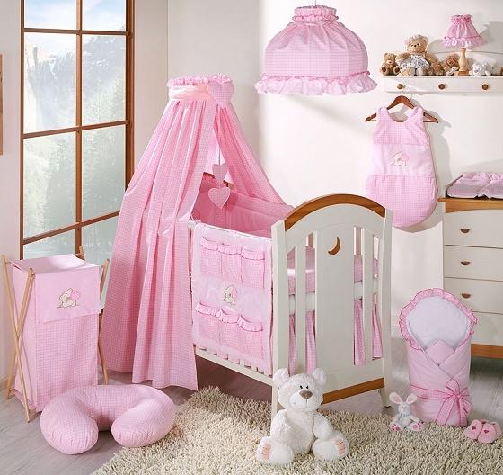 Luxusní 5D set s nebesy z celé látky Mamo Tato - Snílek růžový